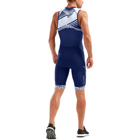 2XU Compression Full-Zip Trisuit Herren navy/navy white lines